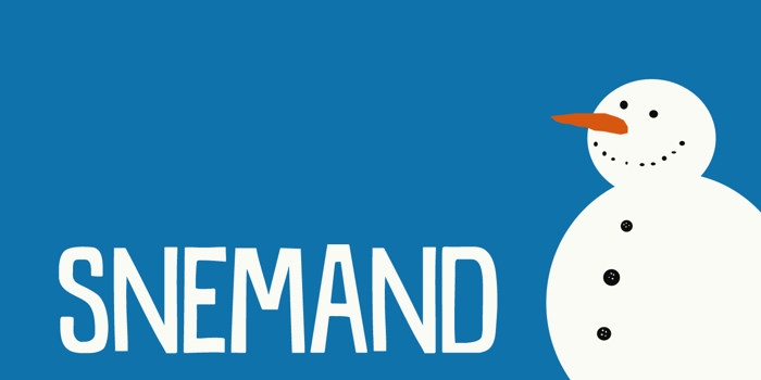 DK Snemand Font poster