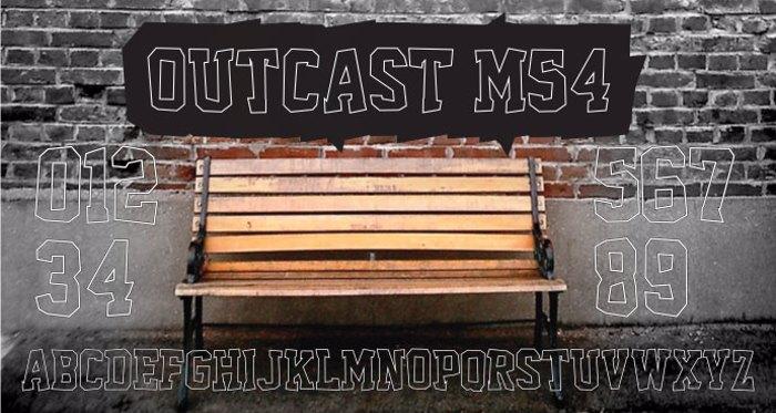 Outcast M54 Font poster