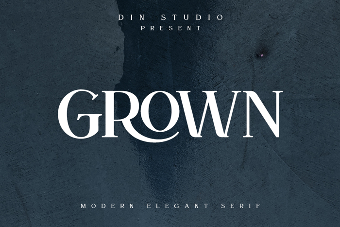 Grown Font poster