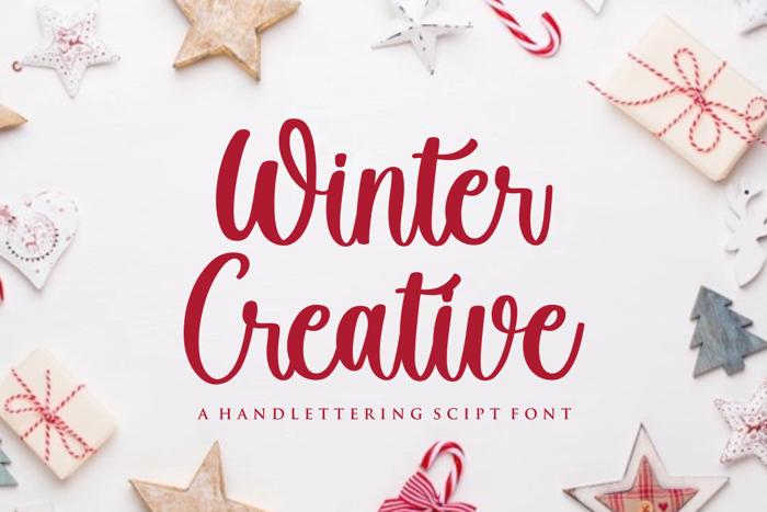 Winter Creative Font poster