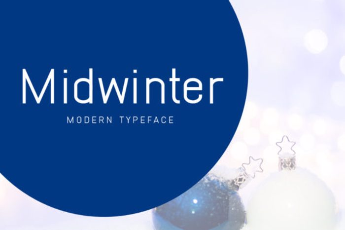 Midwinter Font poster