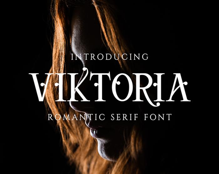 Viktoria Serif Font poster