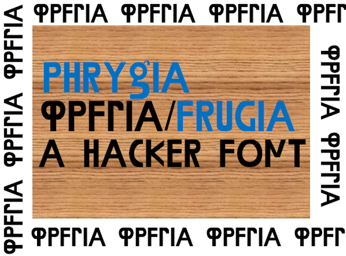 Phrygia Font poster