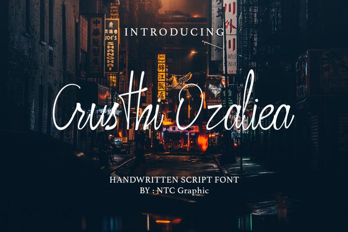 Crusthi Ozaliea Font poster