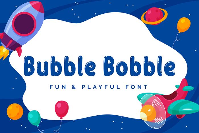 Bubble Bobble Font poster