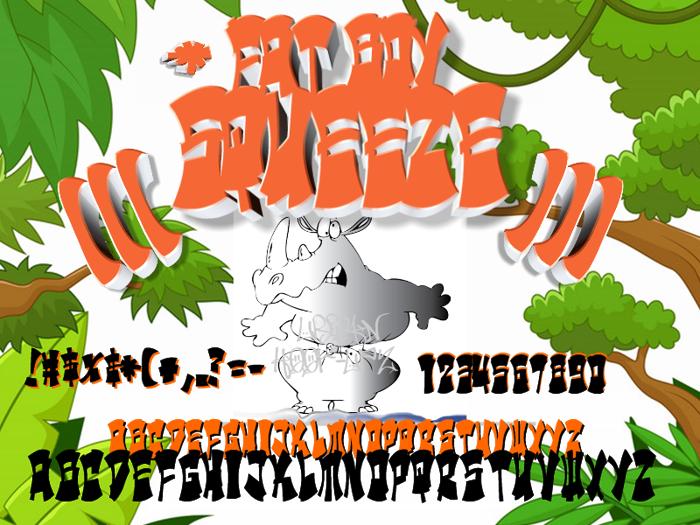 Urban Hook-Upz : FAT BOY SQUEEZ Font poster
