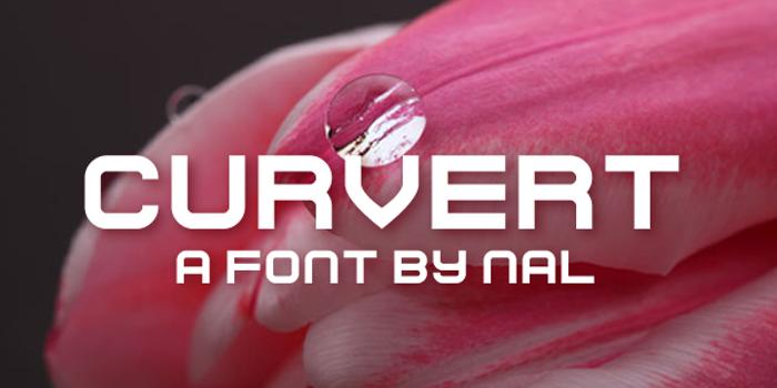 Curvert Font poster