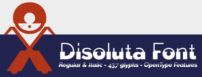 Disoluta Font poster