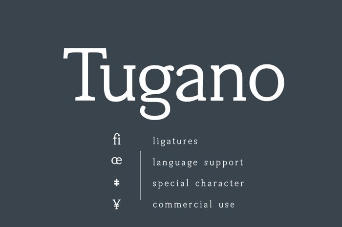Tugano Font poster