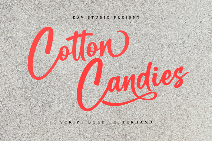 Cotton Candies Font poster