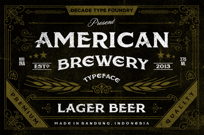 American Brewery Rough Font poster
