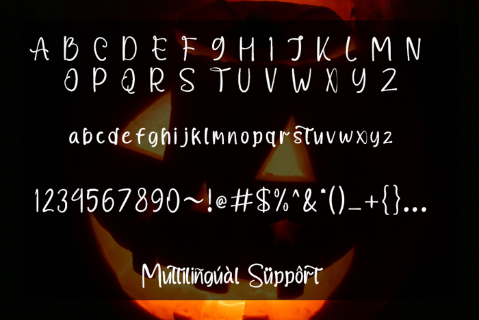 Halloge Font poster