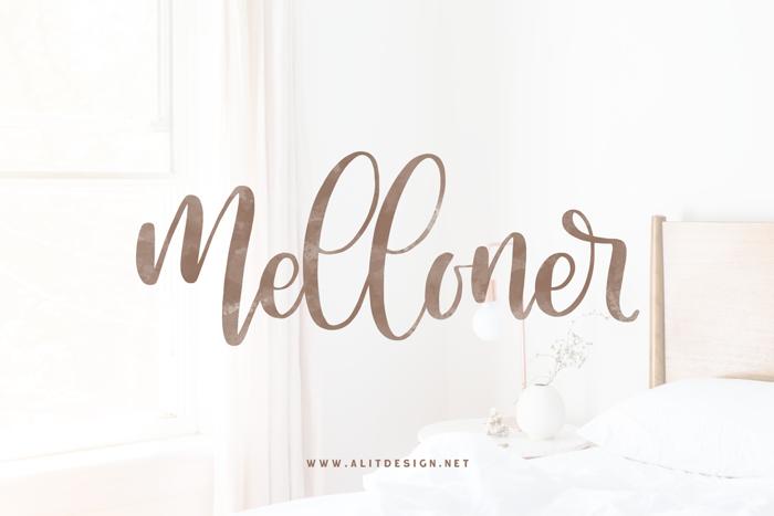 Melloner Font poster