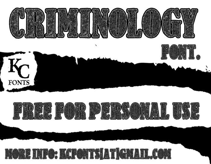 Criminology Font poster