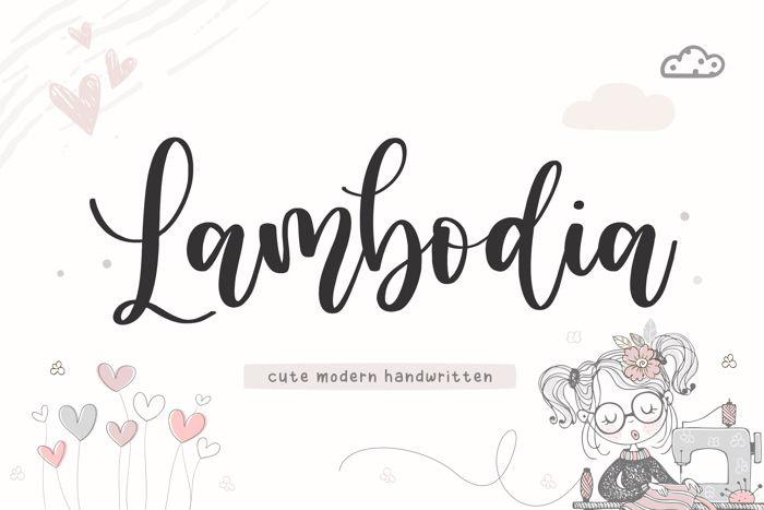Lambodia Font poster