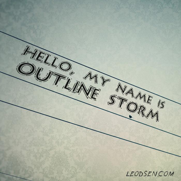 OutlineStorm Font poster