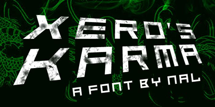 Xero's Karma Font poster