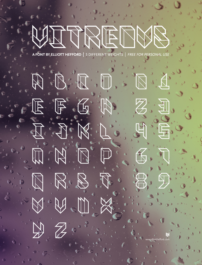 Vitreous Font poster