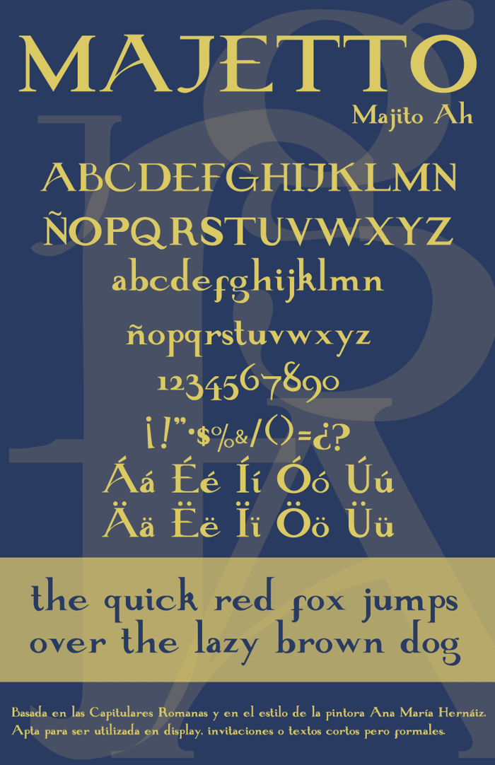 Majetto Font poster