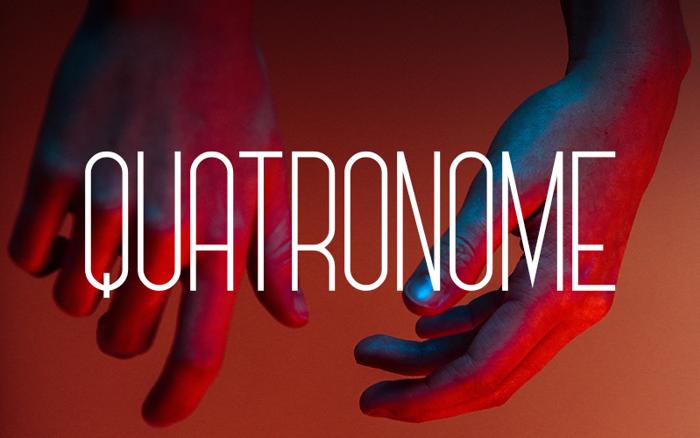 Quatronome Font poster