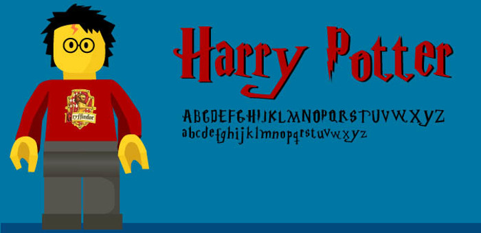 Harry Potter Font poster
