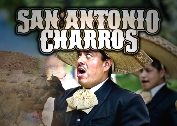 San Antonio Charros Font poster