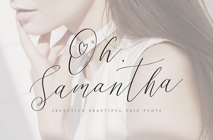 Oh Samantha Font poster