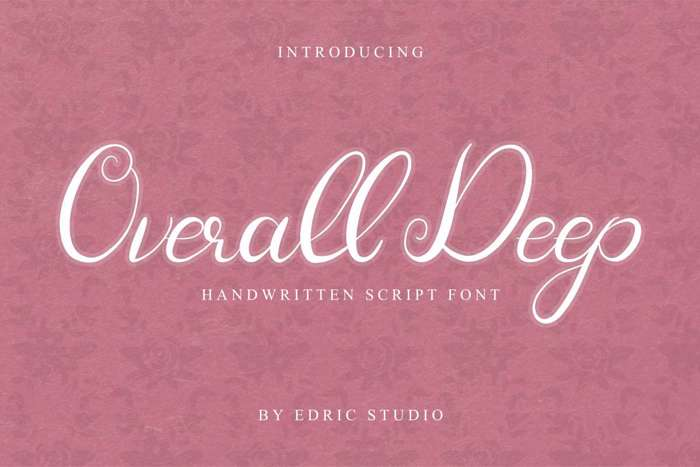 Overall Deep Font poster