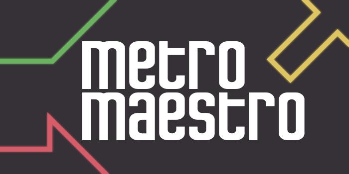 Metro Maestro Font poster