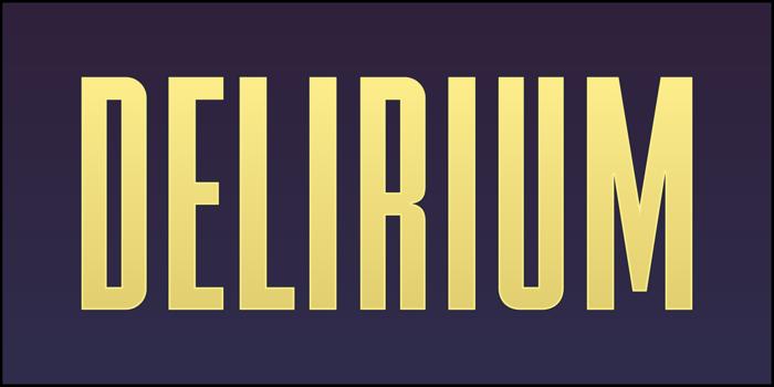 FTY DELIRIUM NCV Font poster