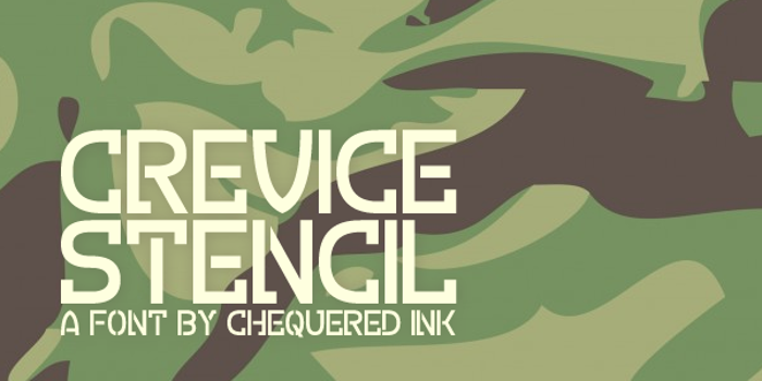Crevice Stencil Font poster
