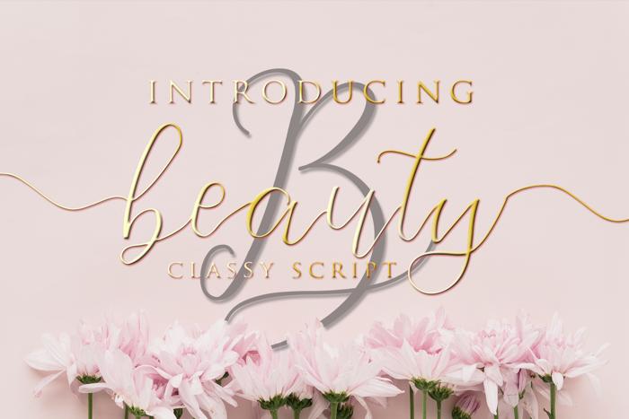 Beauty Font poster