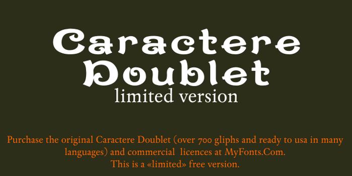 CaractereDoublet Font poster