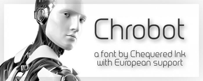 Chrobot Font poster