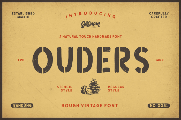 Ouders Font poster
