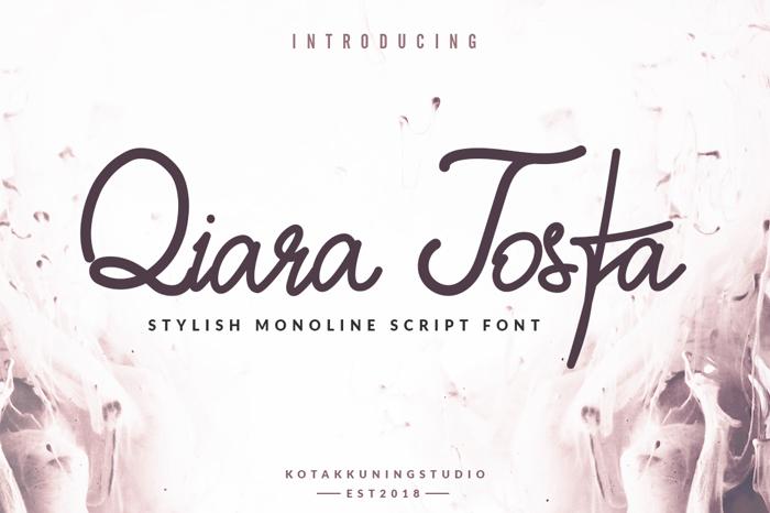 Qiara Tosfa Font poster