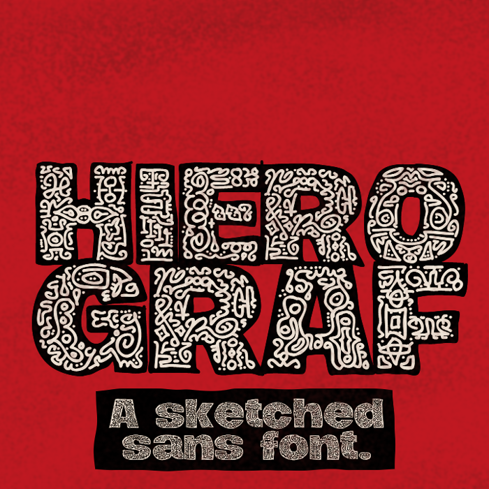 Hierograf Font poster