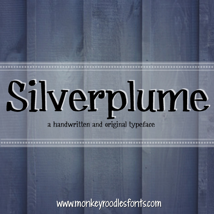 MRF Silverplume Font poster