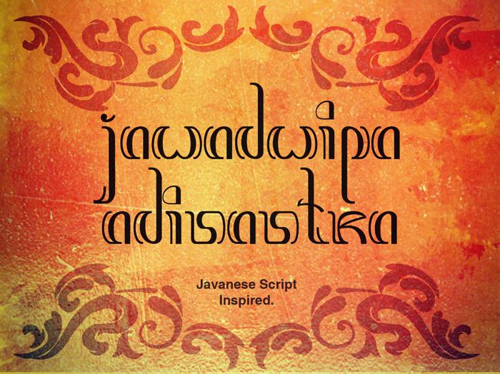 Jawadwipa Adisastra Font poster