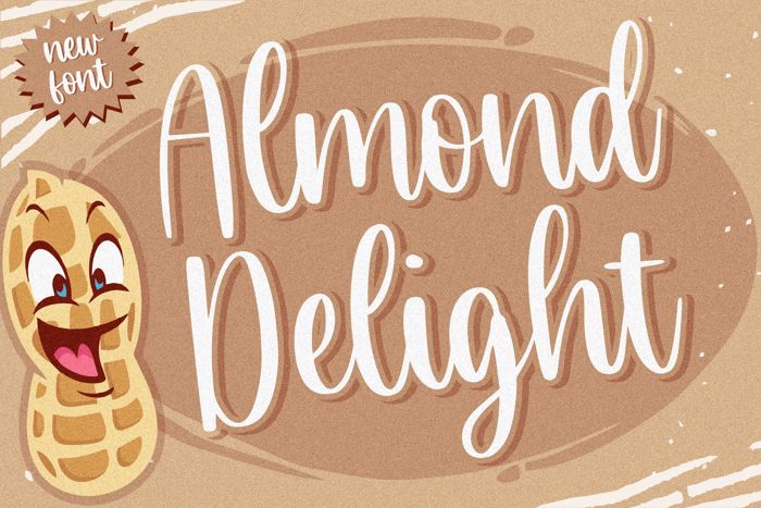 Almond Delight Font poster