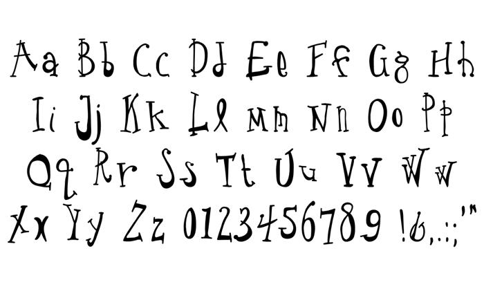Crude Drawn Type Font poster