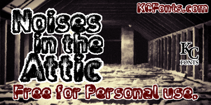 Noises in the Attic Font poster