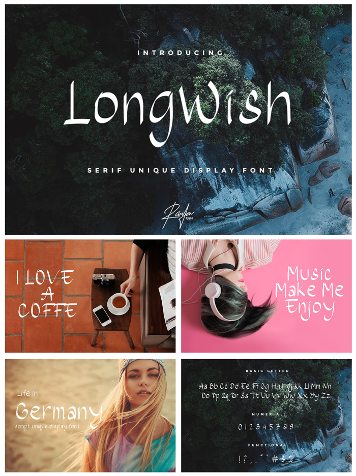 LongWish Font poster