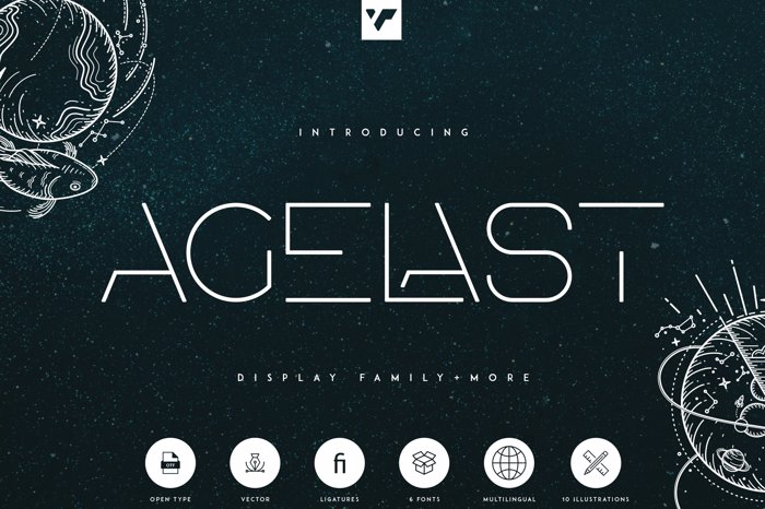 AGELAST Font poster