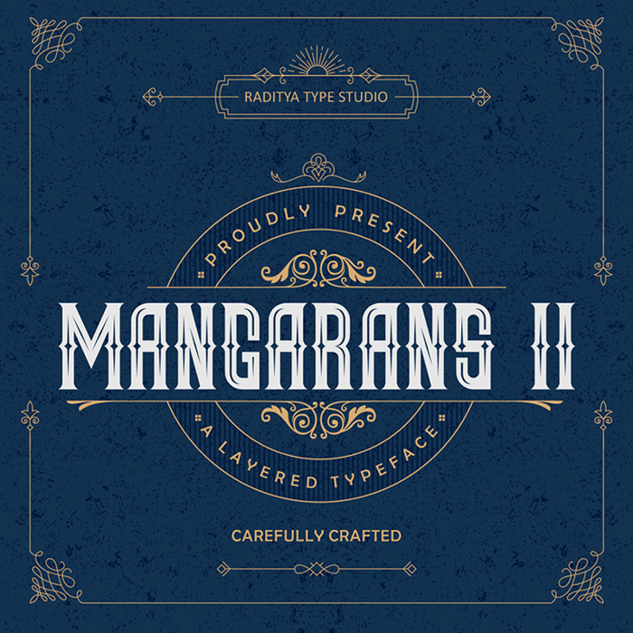 Mangarans II Font poster