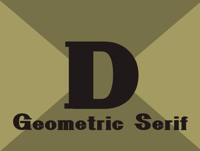 GeometricSerif Font poster