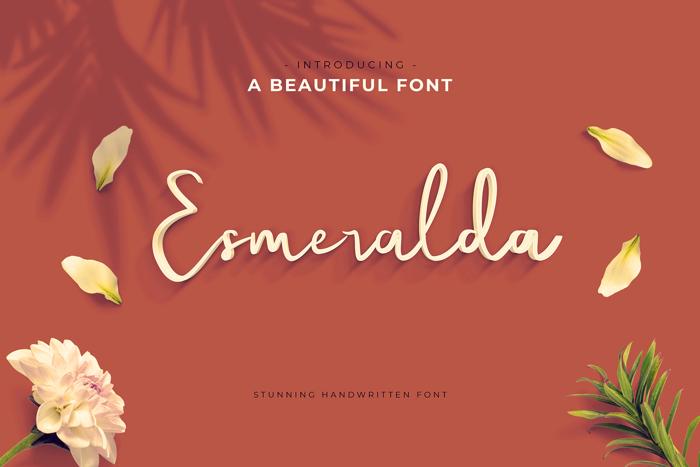 Esmeralda Font poster