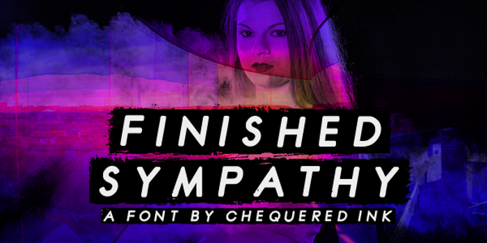 Finished Sympathy Font poster
