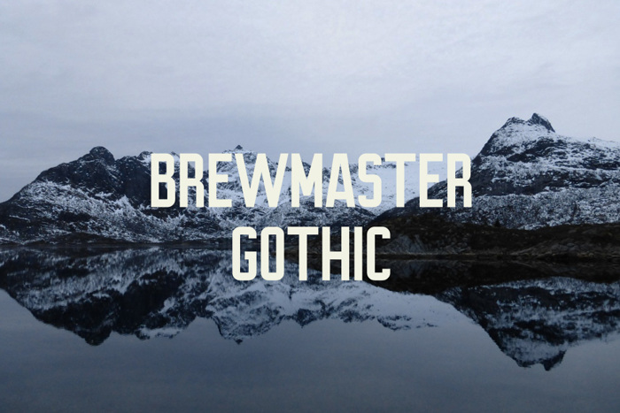 Brewmaster Gothic Font poster