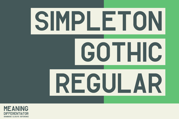 Simpleton Gothic Font poster